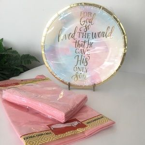 Other - Religious Christian John 3:16 Paper Party Plates